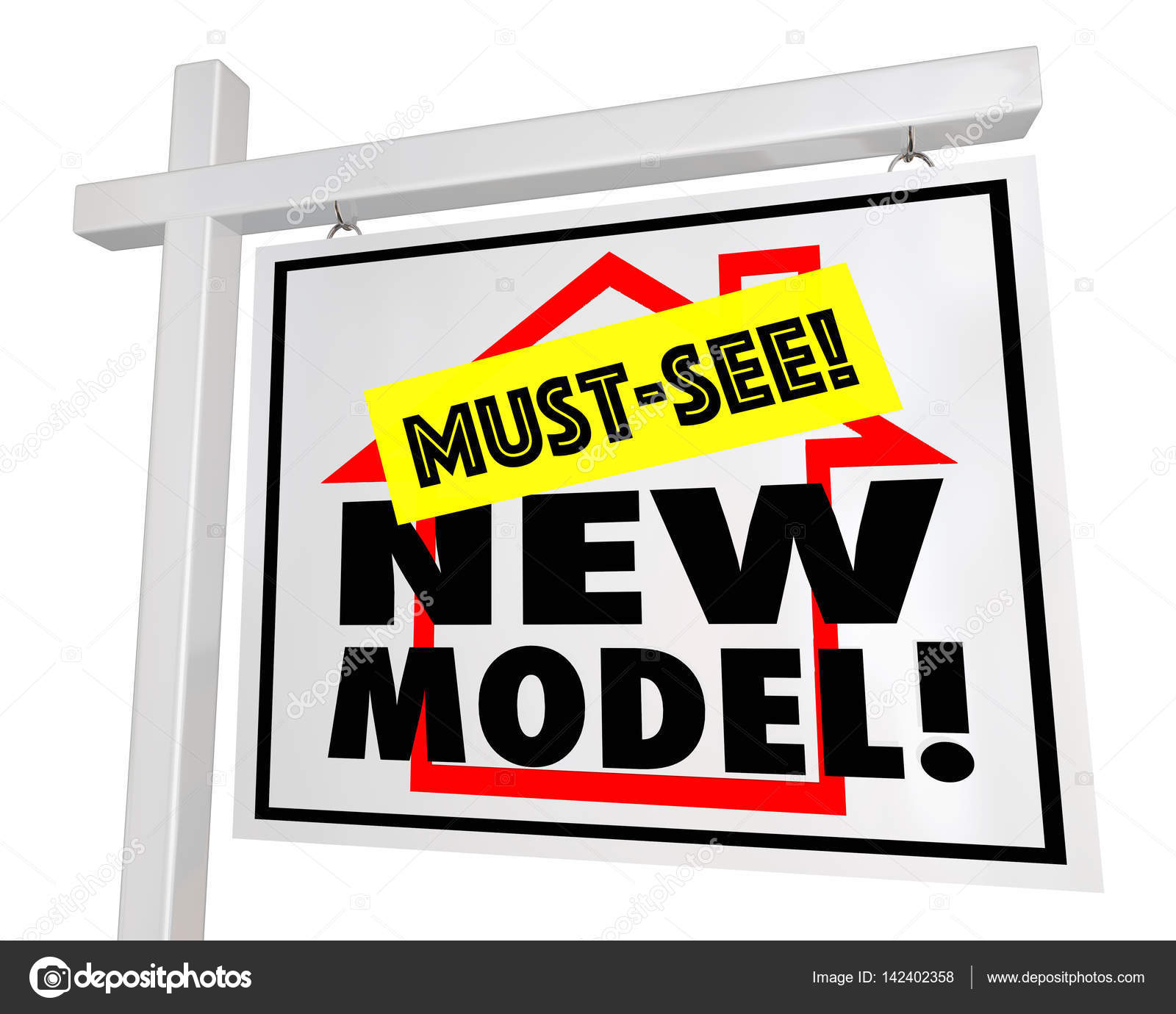 new model home sign stock photo iqoncept 142402358