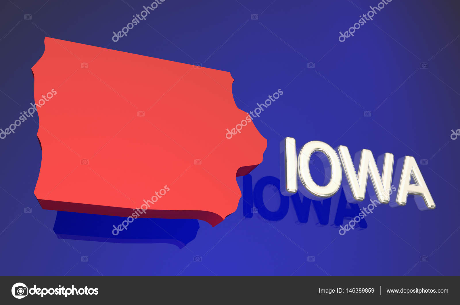 Iowa State Map Stock Photo C Iqoncept 146389859
