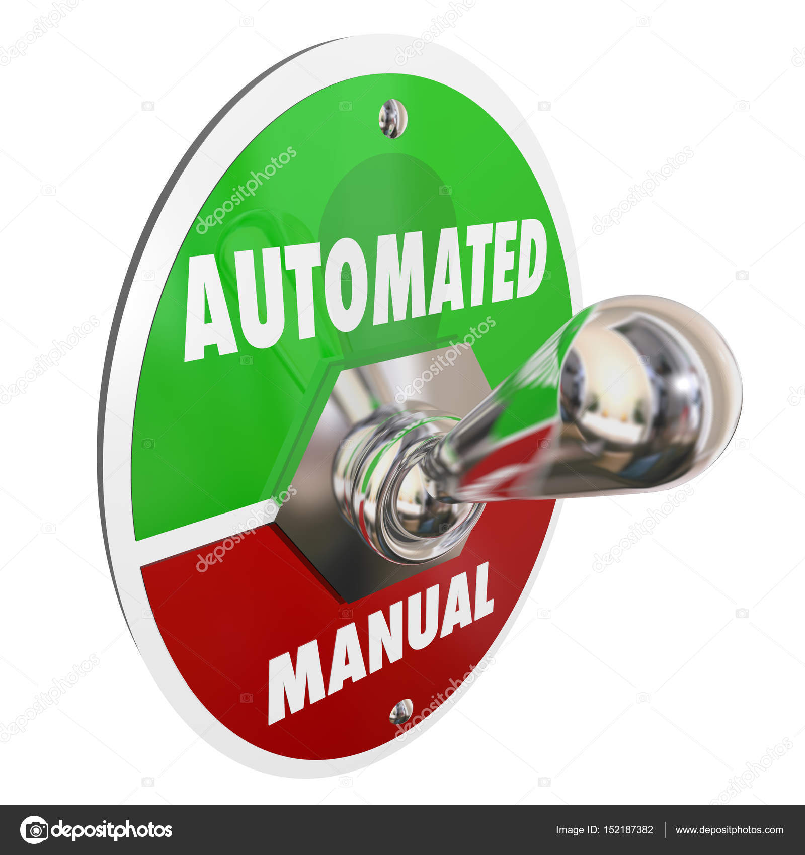 automated vs manual automation stock photo iqoncept 152187382