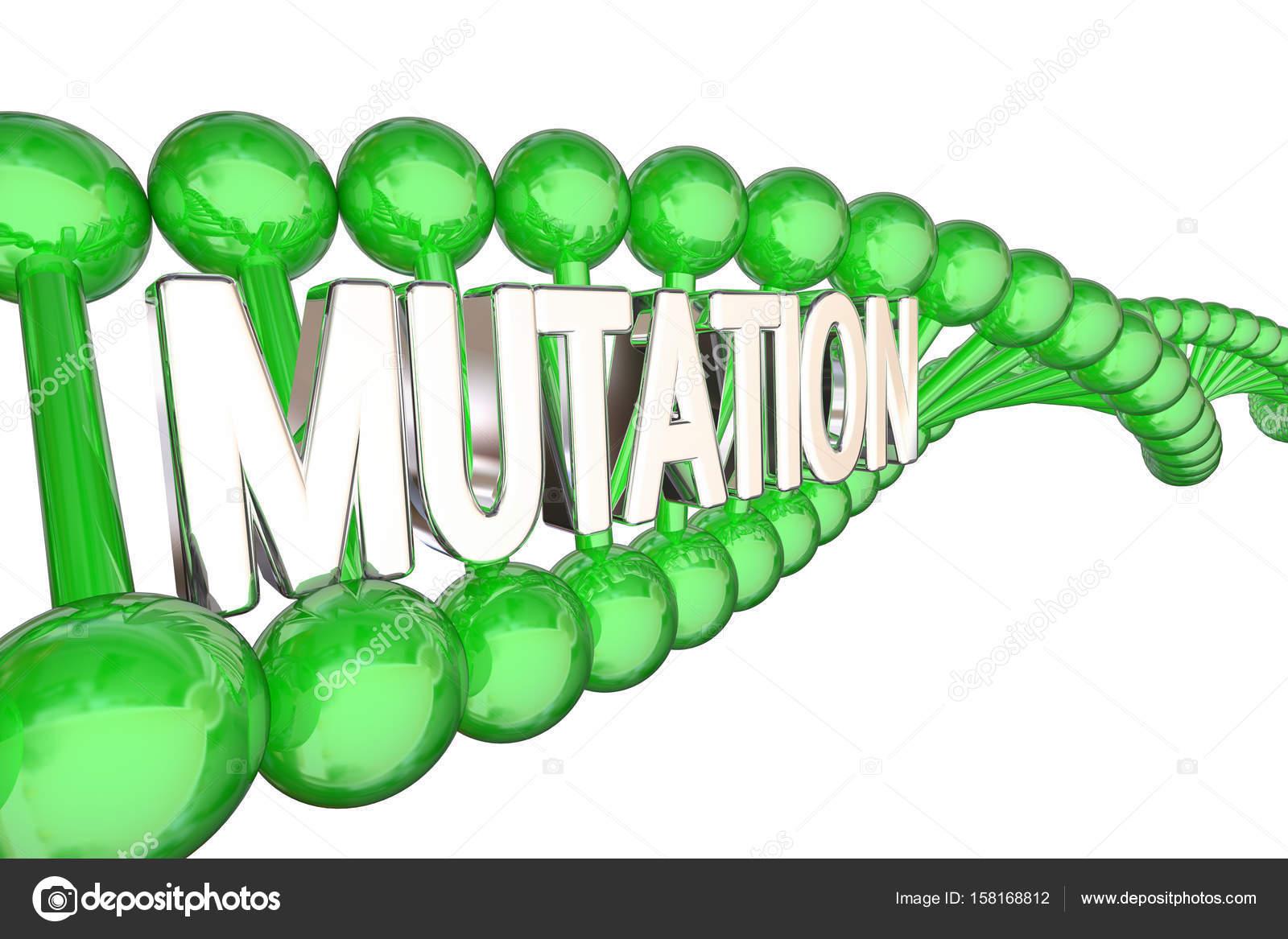 ADN de verde con la palabra mutación — Foto de stock © iqoncept ...