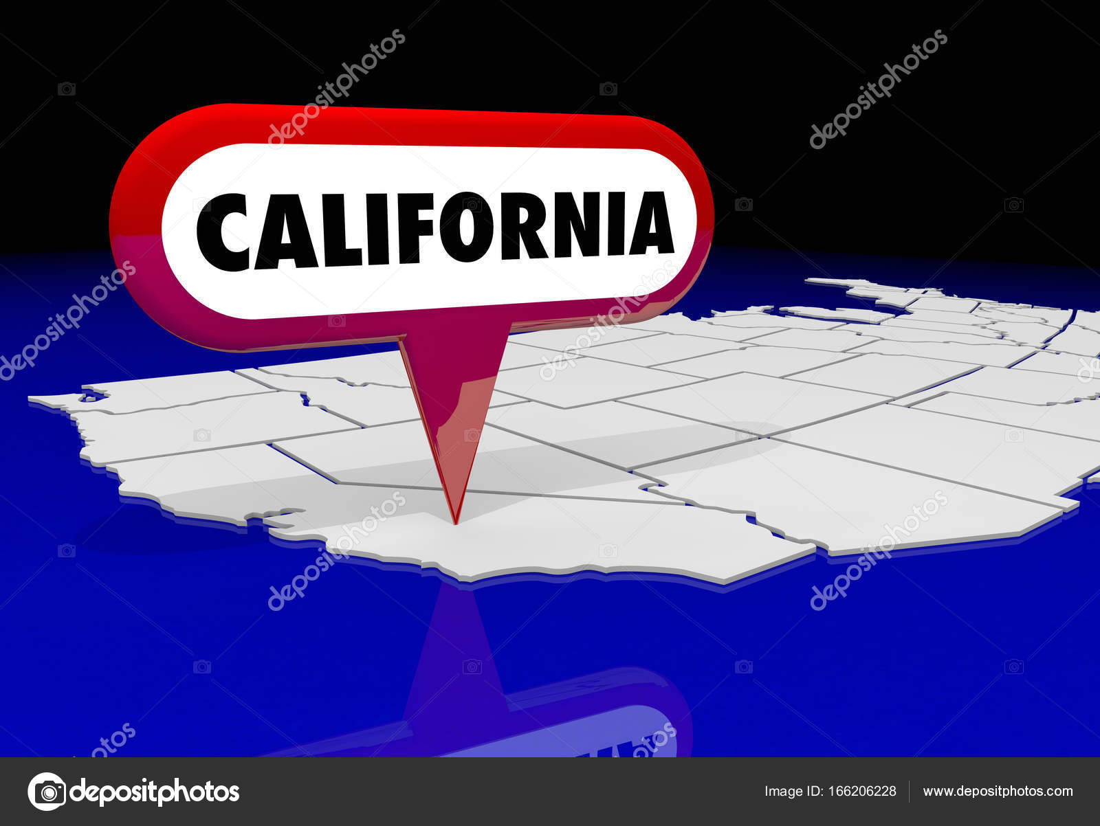 Ca State Map on