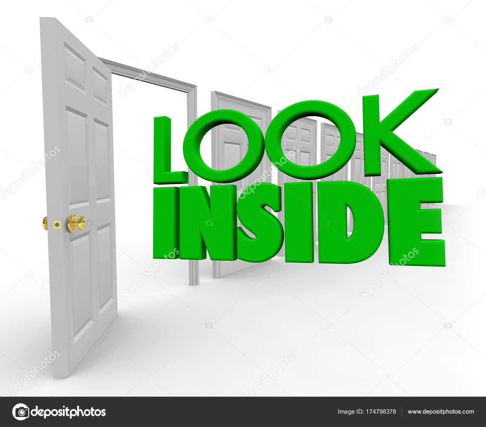 f4042f78ed087 Regardez à l intérieur de l ouverture porte Découvrez maintenant– images de  stock libres de droits