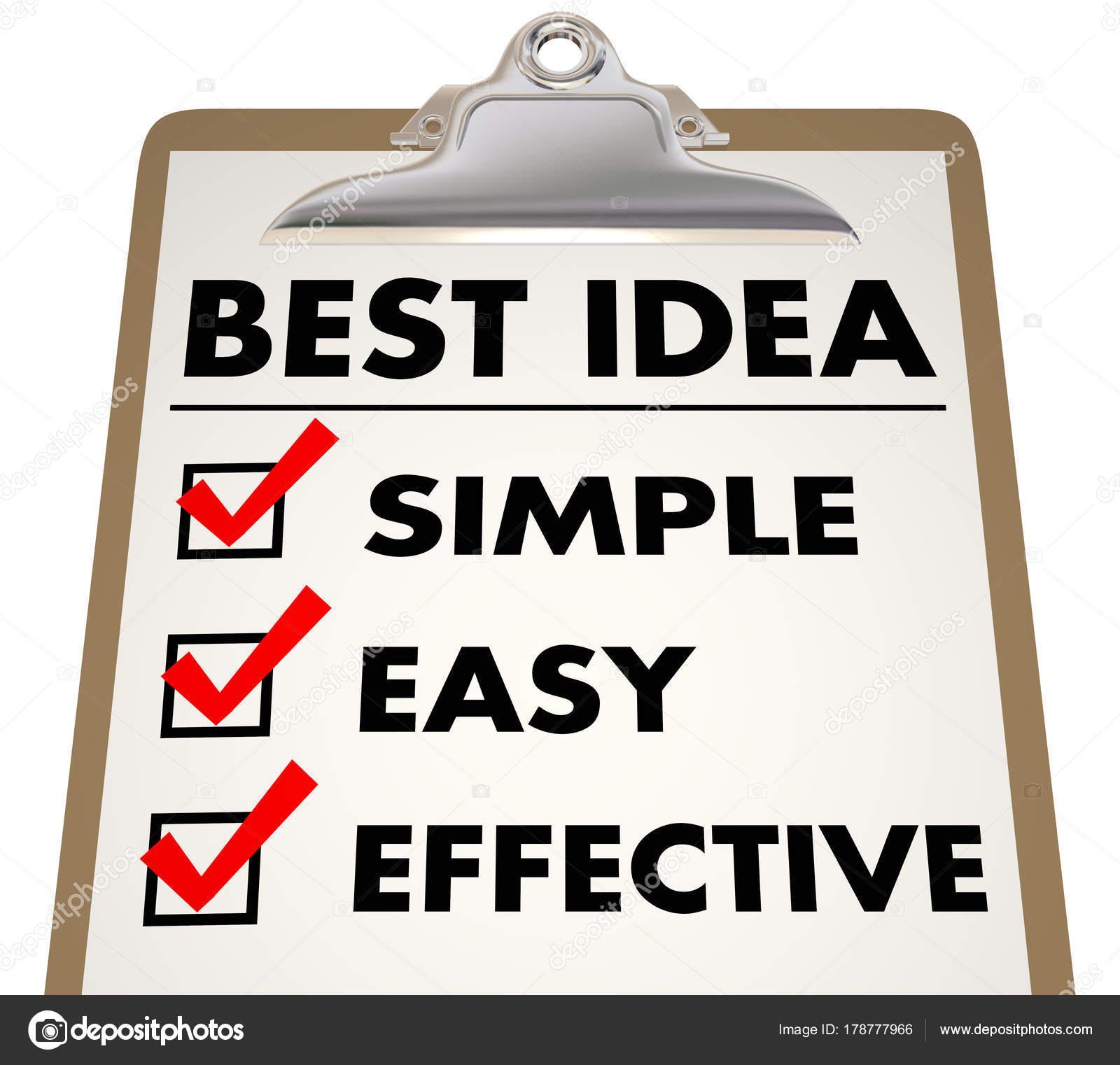 Meilleure Idée Simple Facile Efficace