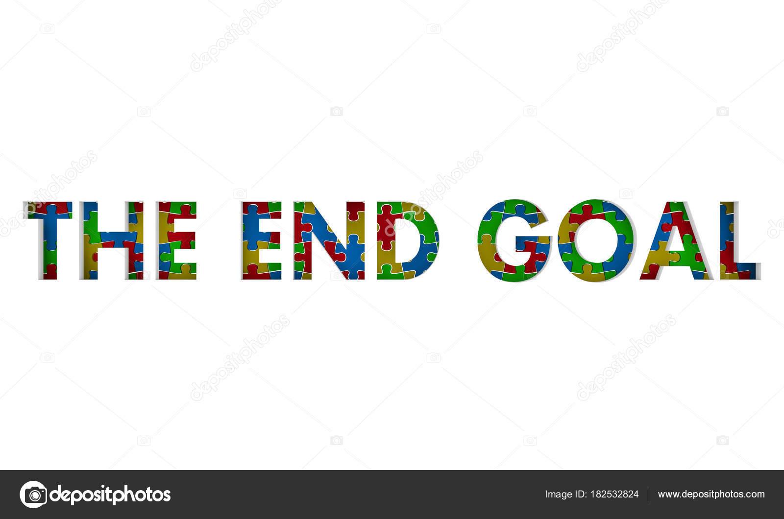 24219fe6fdf Τελικός Στόχος Λευκό Φόντο Απεικόνιση Έννοια Τελική Αποστολή ...