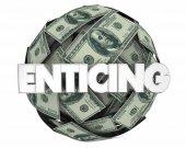 Csábító pénzt labda 3D-s illusztráció.