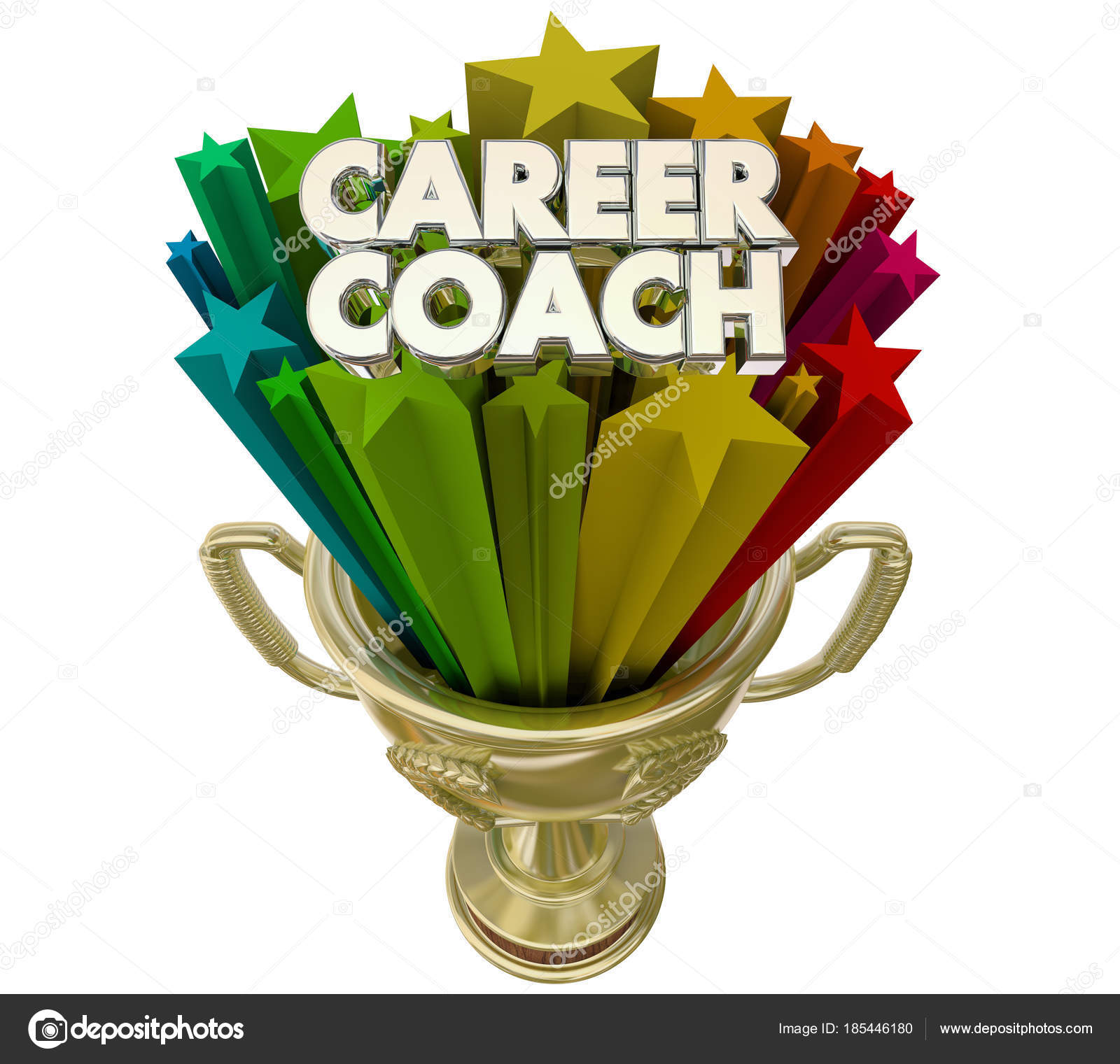 Career Coach Best Mentor Trophy Award Illustration — Stock Photo
