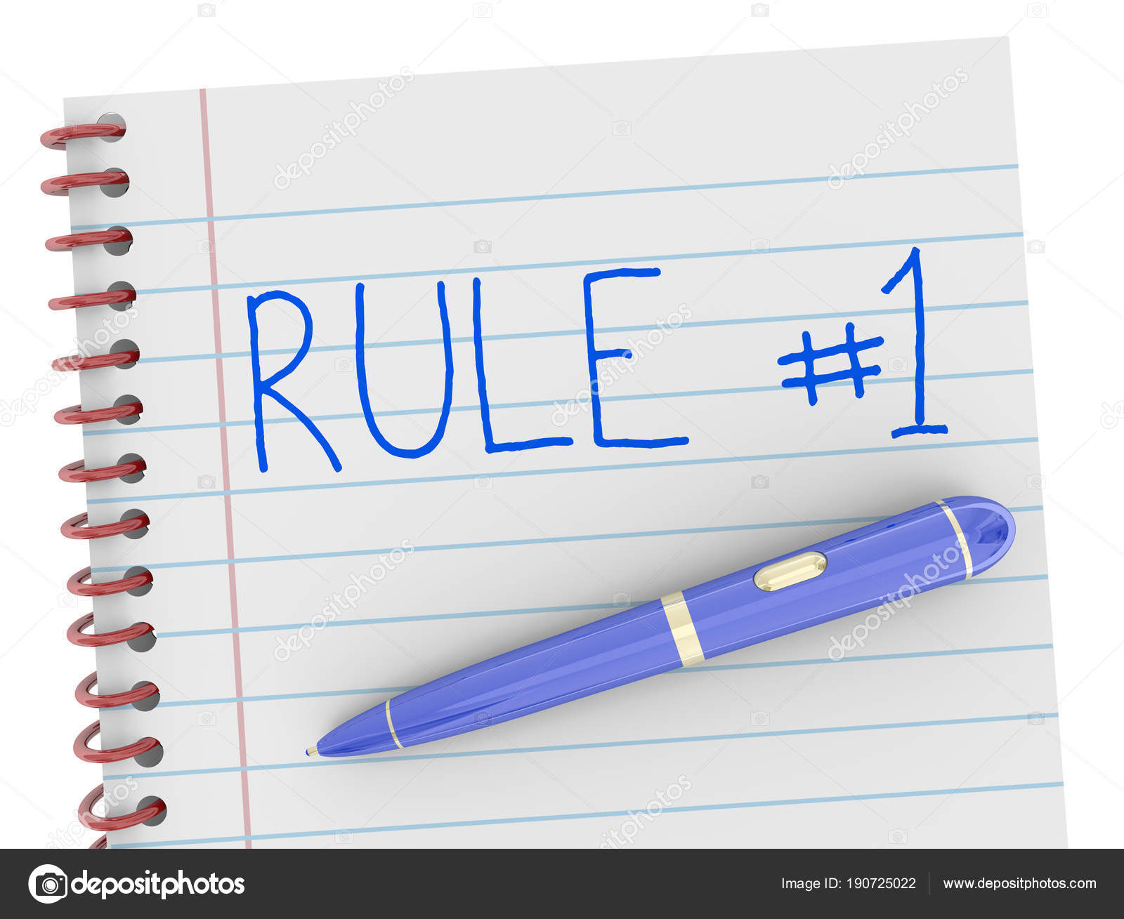 Rule Number Notepad Pen One Follow Top Illustration Stock Photo Ballpoint Diagram And Royalty Free Photos