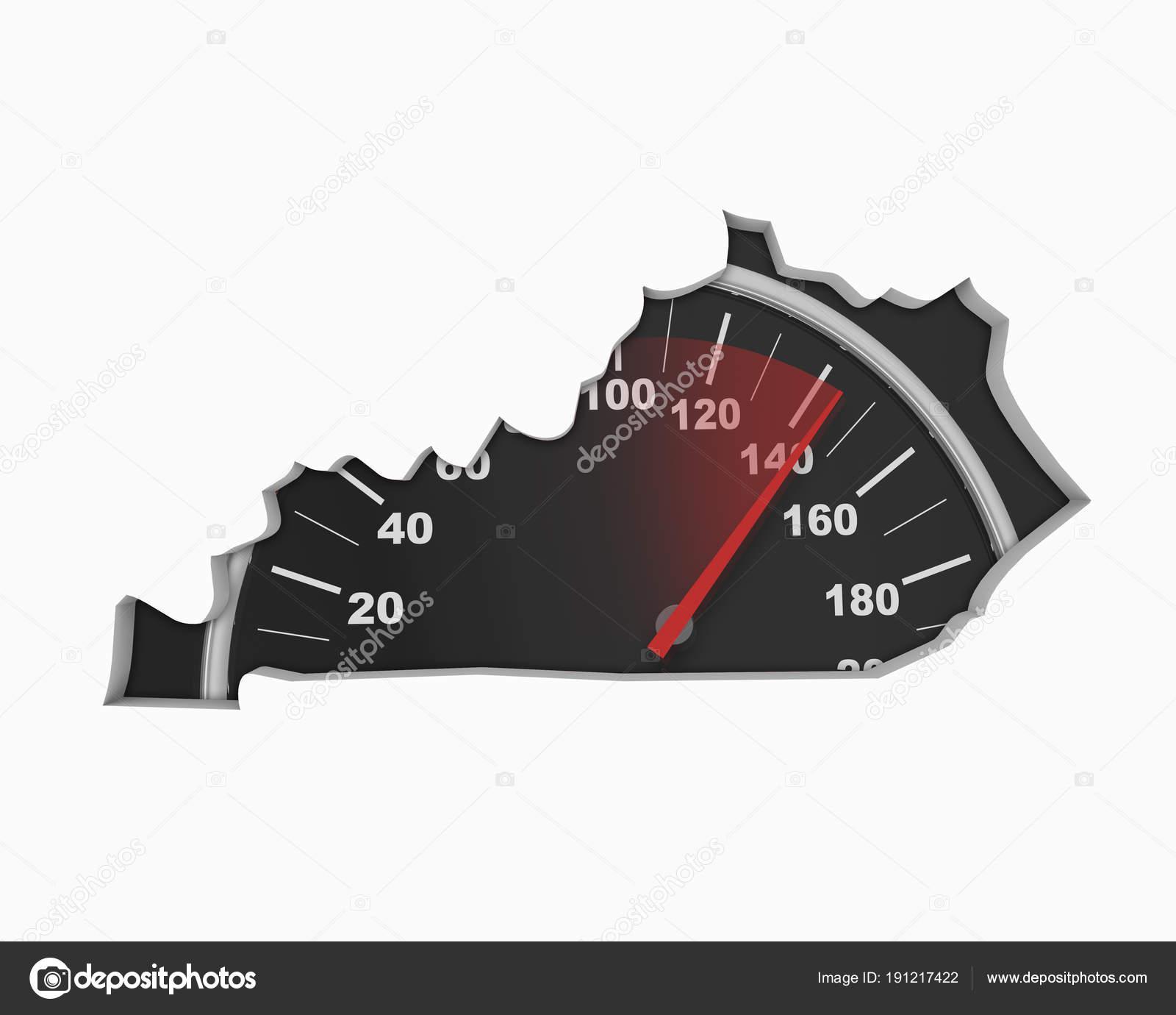 Kentucky Road Map Pflaster Bau Infrastruktur Illustration ...