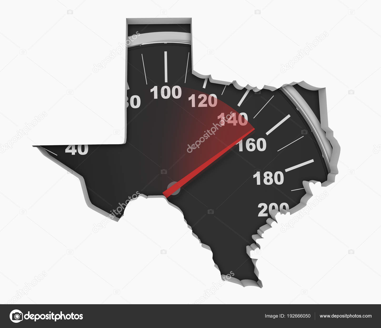 Speedometer Collage Shape Texas State Map Usa Illustration Stock
