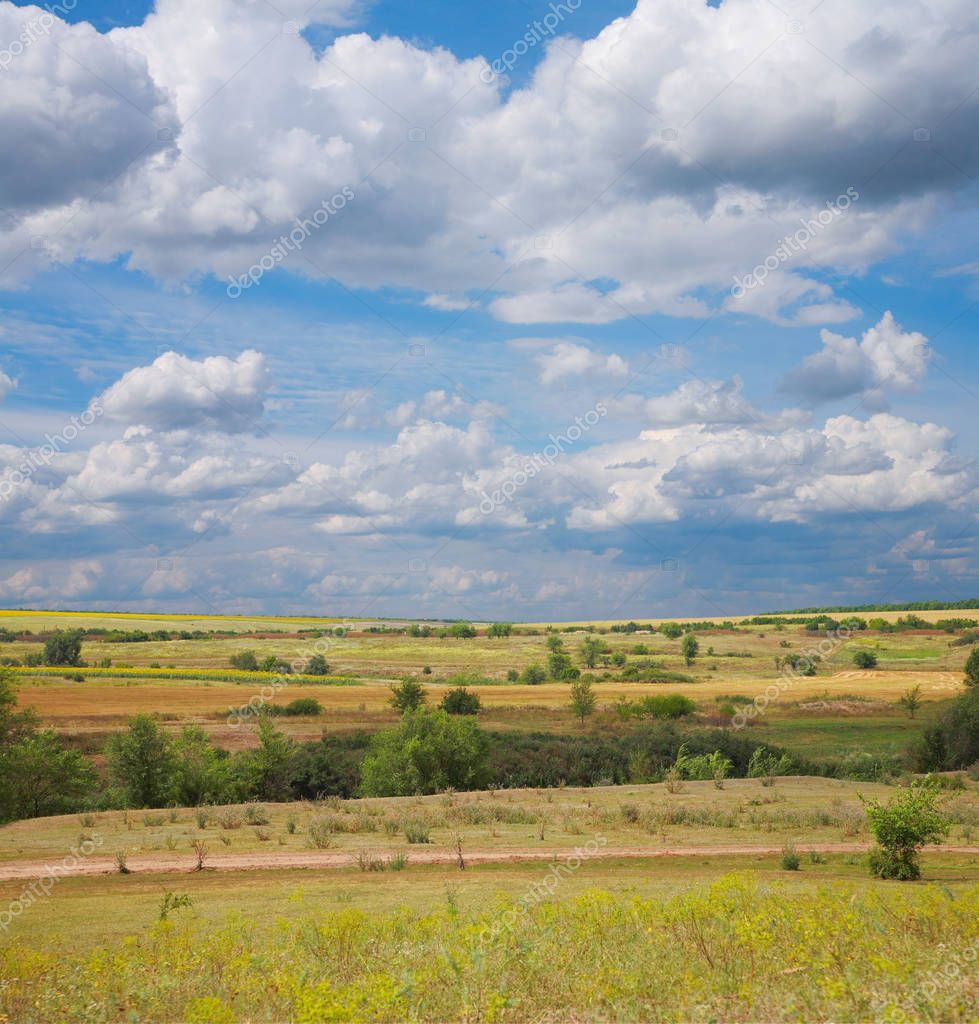 Countryside landscape steppe