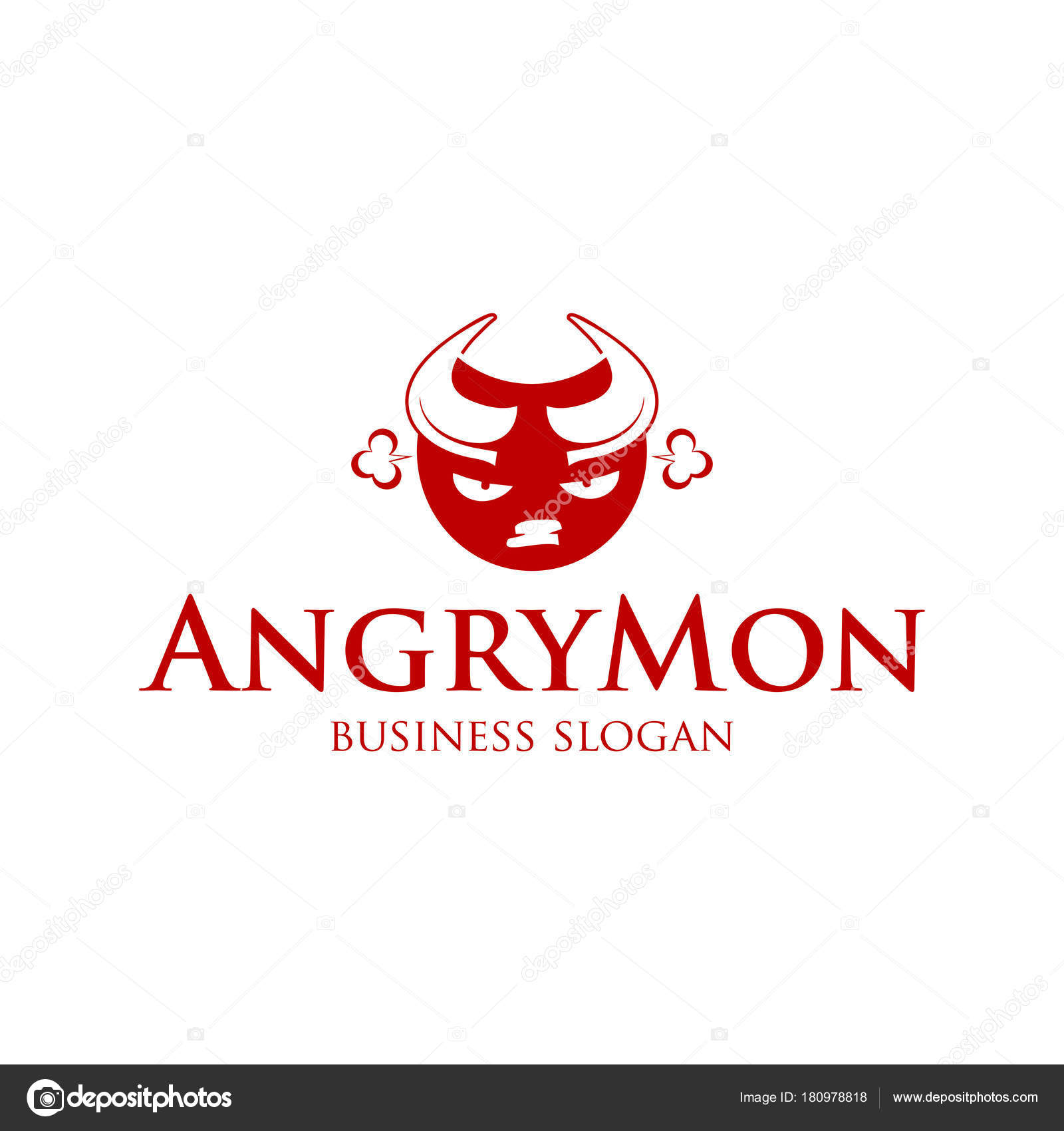 angry monster ball logo vector logotype character stock vector