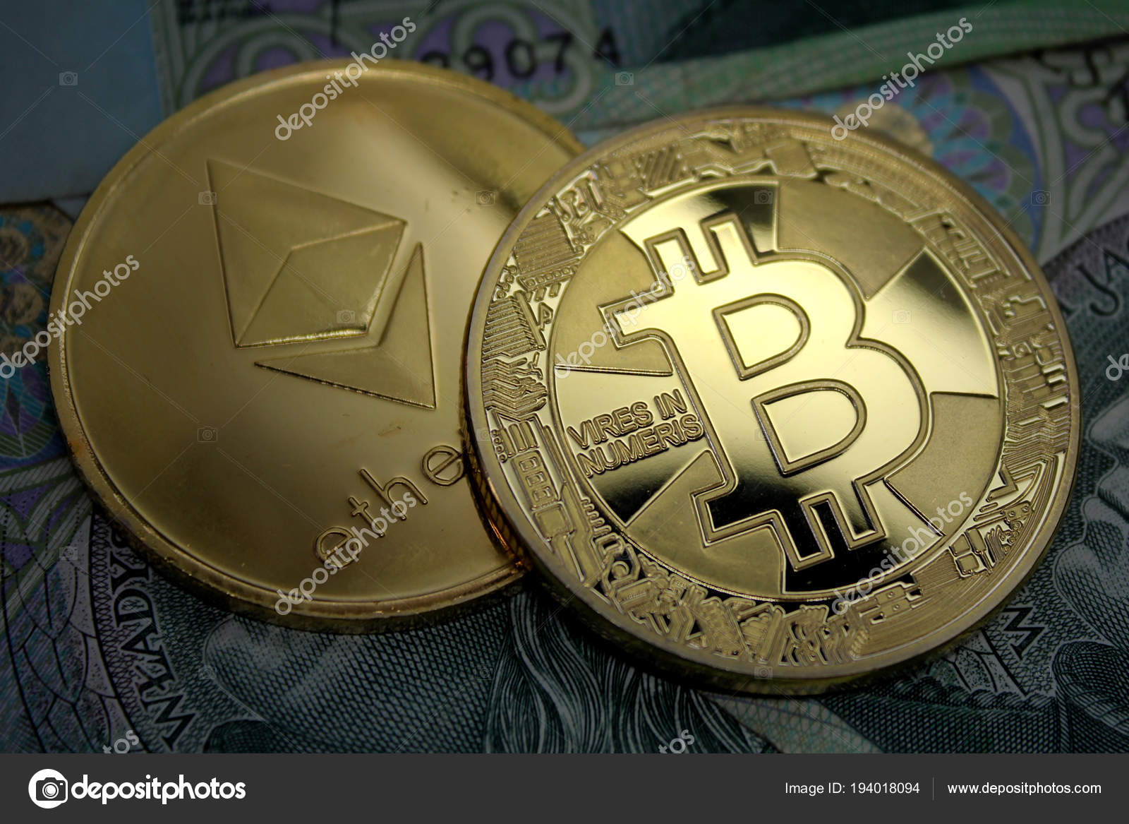 Ethereum Bitcoin Coin Cryptocurrency Coins Polish Money