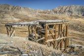 ruiny zlatý důl v Rocky Mountains