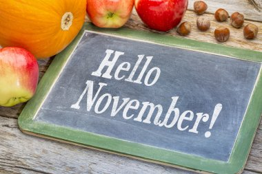 Hello November on  blackboard