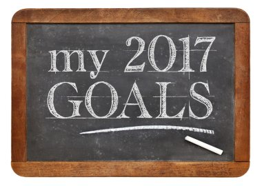 My 2017 goals on blackboard