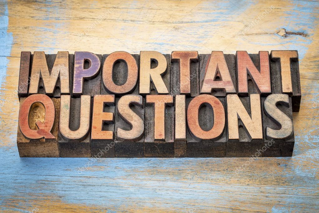 important questions word abstract in wood type