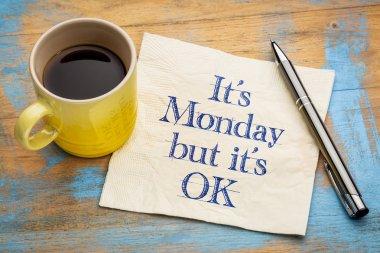 OK, it is Monday - napkin