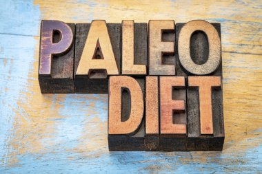 paleo diet word abstract
