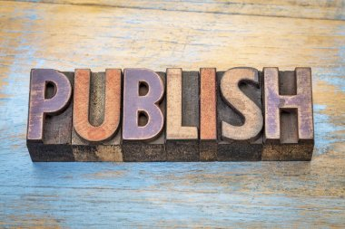 publish word abstract in wood type