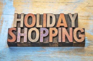 holiday shopping word abstract