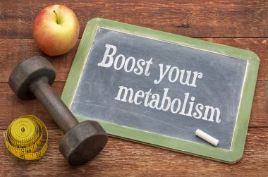 Boost your metabolism blackboard sign
