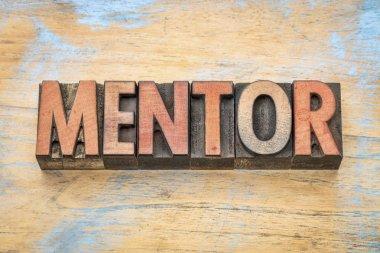 mentor word in wood type