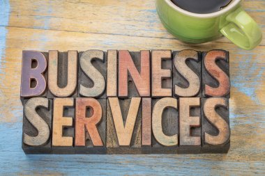business services in wood type