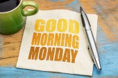 jó reggelt hétfő