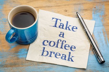 Take a coffee break napkin concept