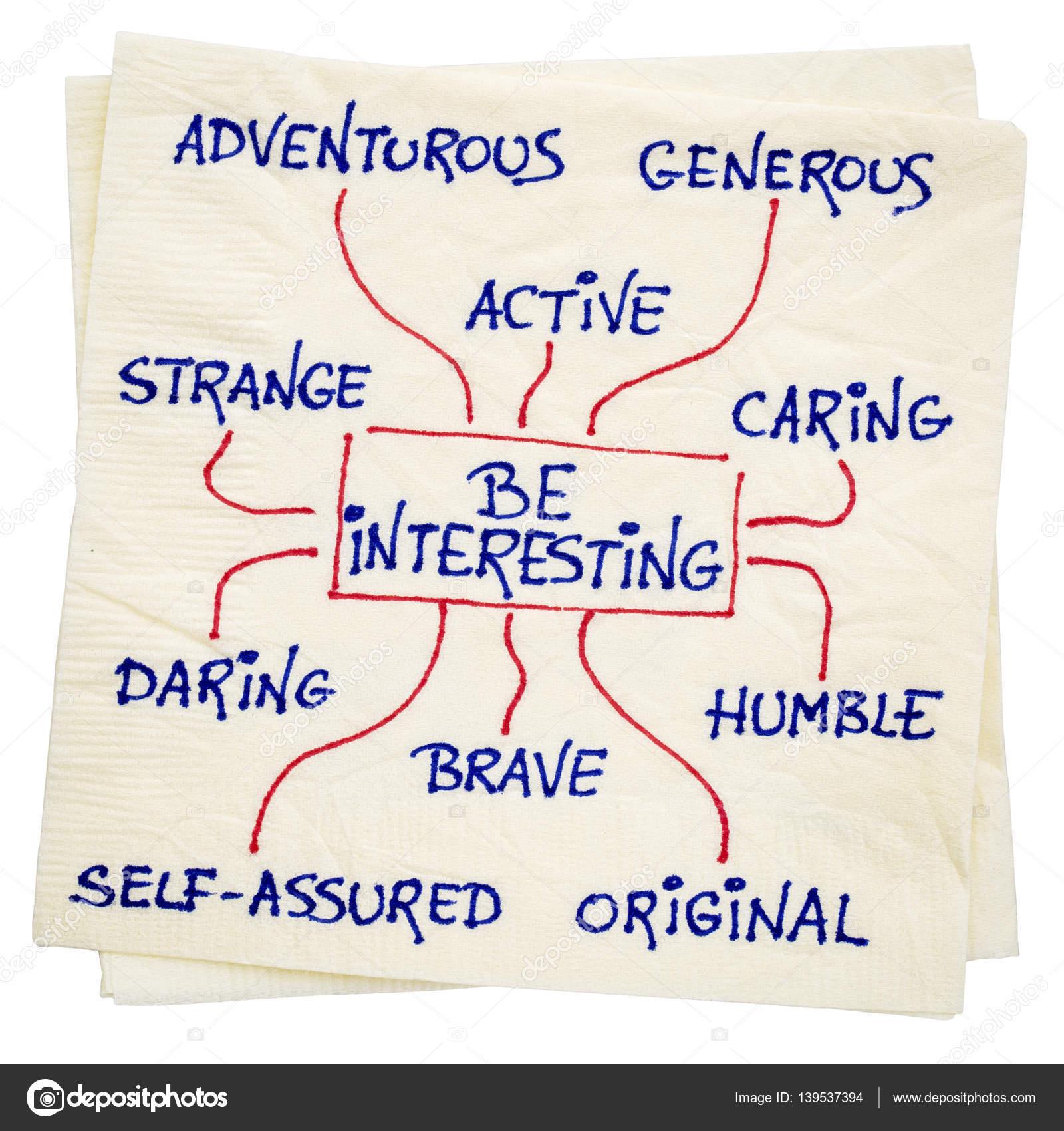 Wie man interessant wird - positive Charaktereigenschaften