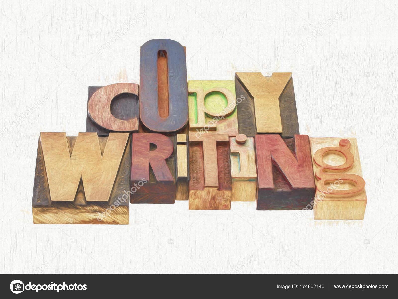 Zusammenfassung Von Texten Wörter In Holz Art Stockfoto