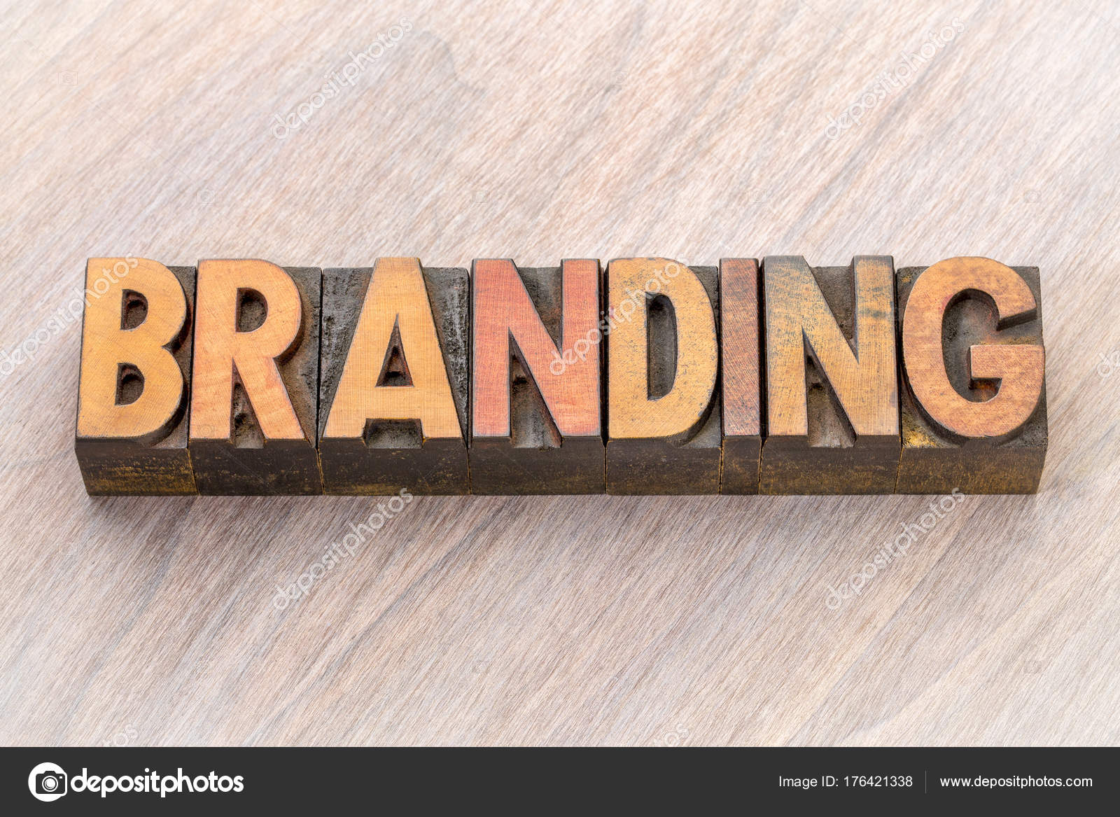 branding wort in holz-art — stockfoto © pixelsaway #176421338