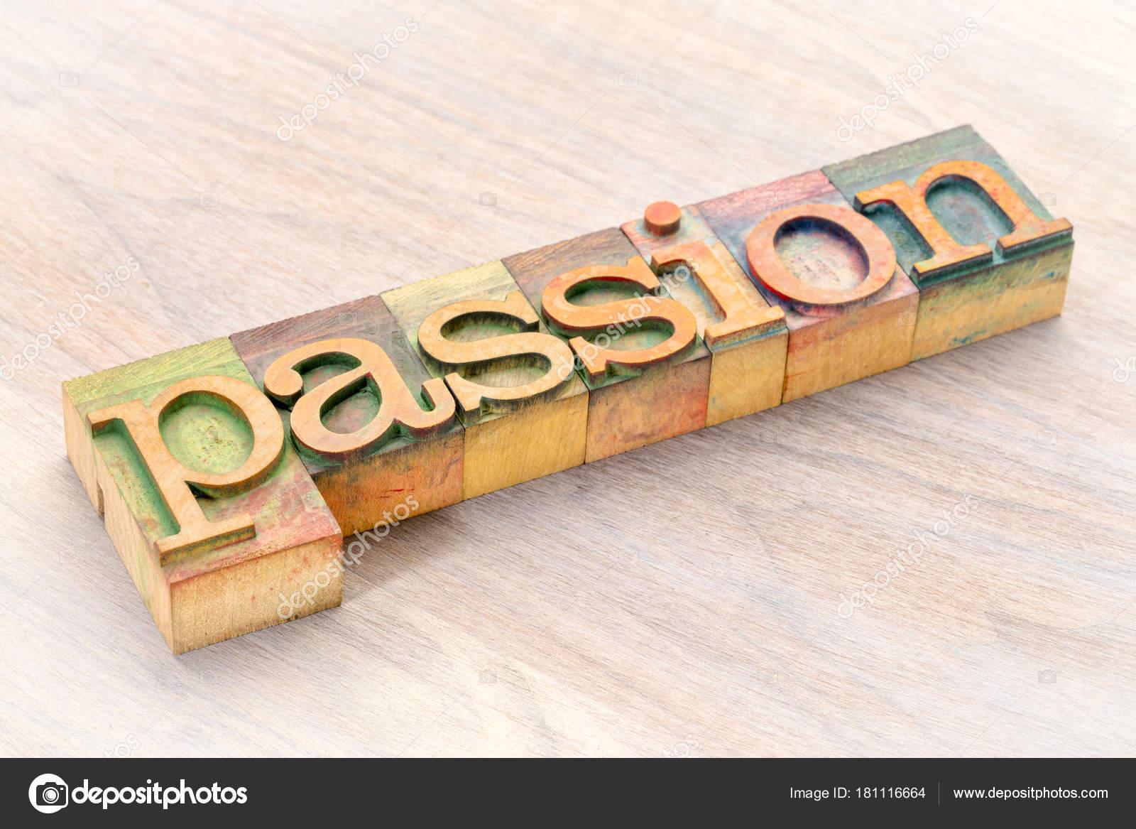 Passion Bois tout mot de la passion dans les types de bois — photographie pixelsaway