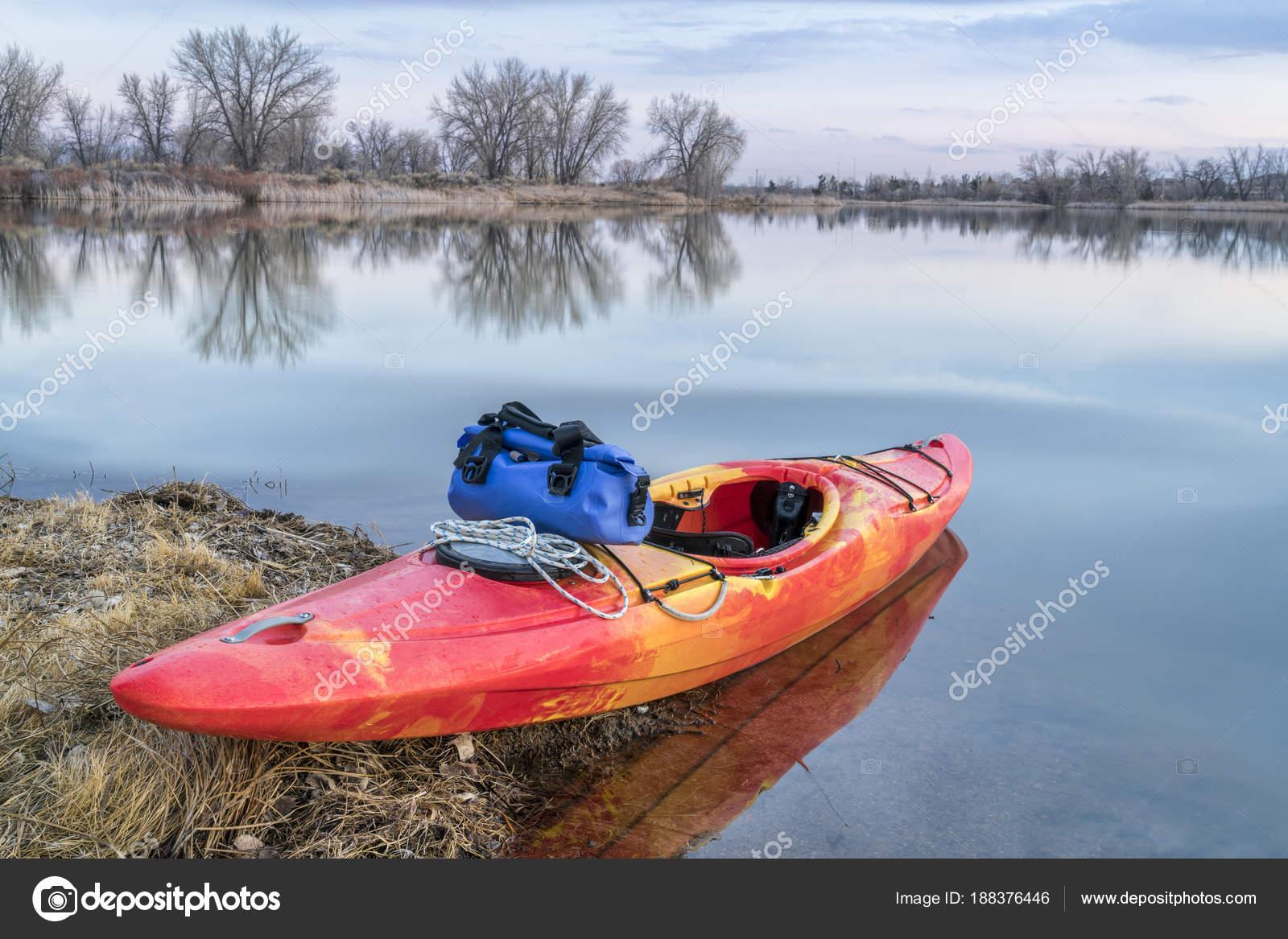 whitewater kayak on lake stock photo pixelsaway 188376446
