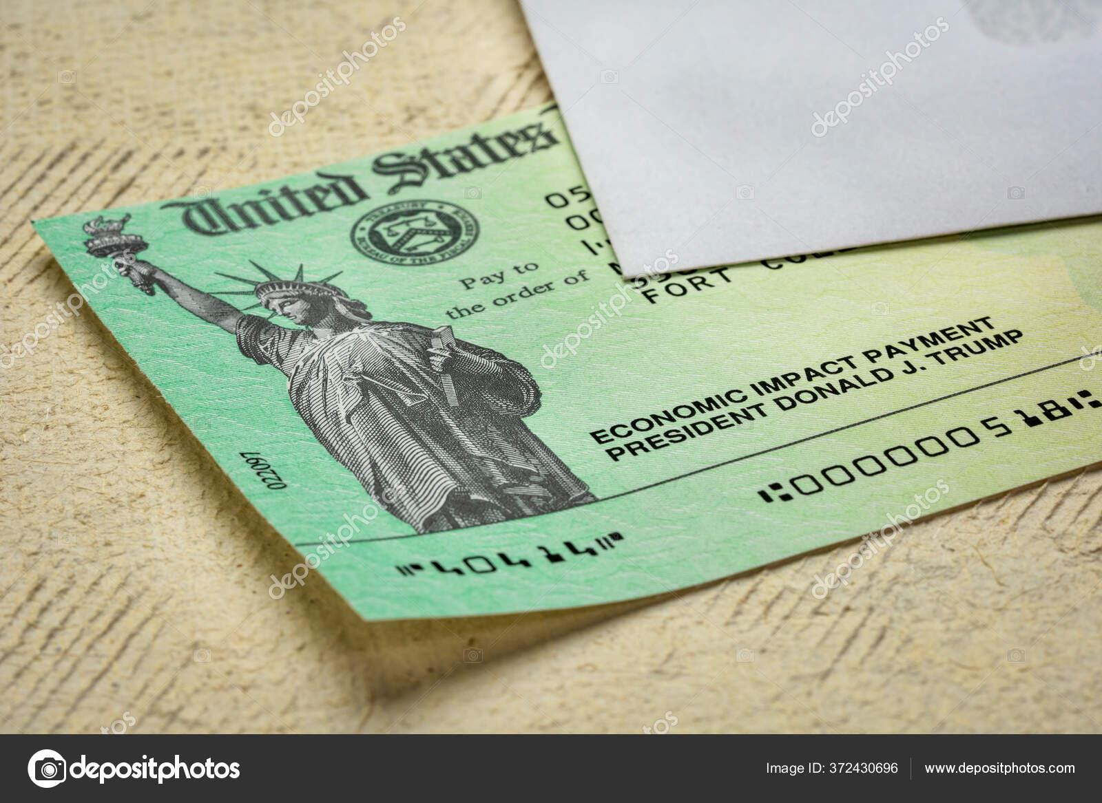 Fort Collins Usa Mei 2020 Pemeriksaan Stimulus Dampak Ekonomi Amerika Stok Foto Editorial C Pixelsaway 372430696