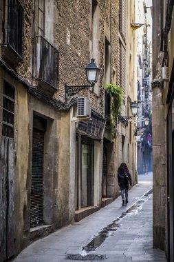 street view in Born Quarter in Barcelona