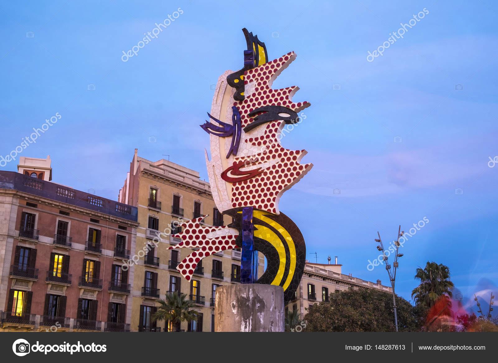 1c45091eb96 El Cap de Barcelona or La Cabeza de Barcelona sculpture of Roy L ...