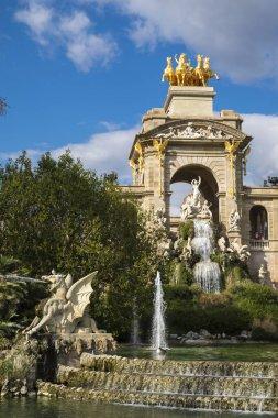 Fountain cascade designed by Josep Fontsere in Ciutadella Park i