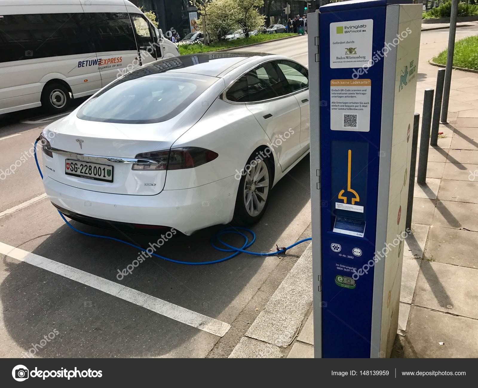 Tesla Model S being charged – Stock Editorial Photo © franky242 ...