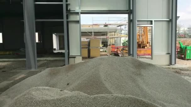 Construction site of a future warehouse
