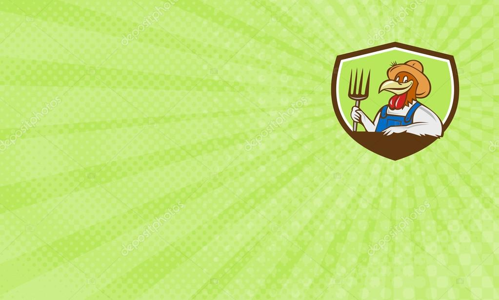 Friendly Chicken Farm Business Card — Stock Photo © patrimonio ...