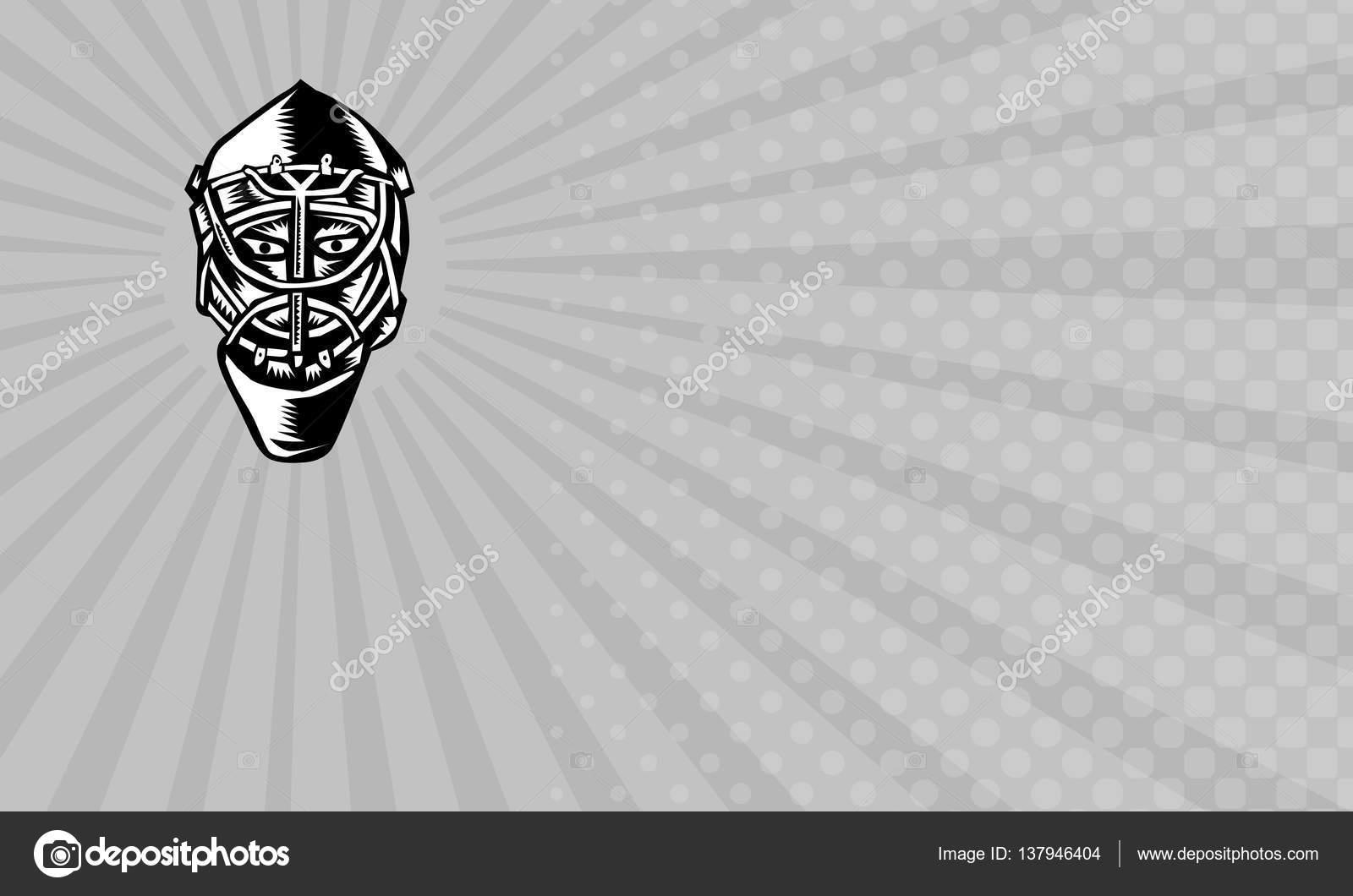 Carte De Visite Gardien But Hockey Sur Glace Photo