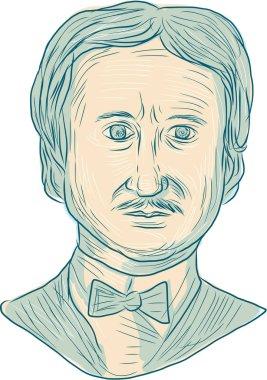 Edgar Allan Poe Writer Drawing