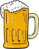 Fotografie Pivo hrnek výkresu