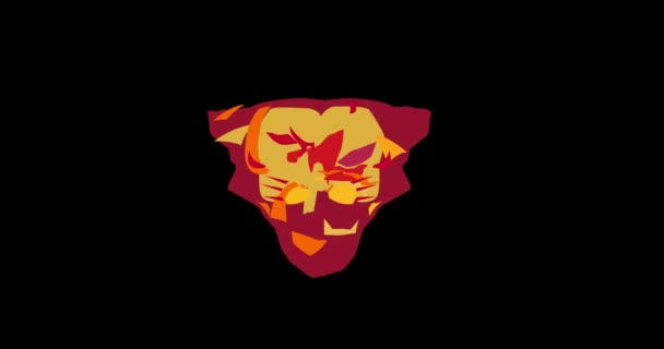 Bull Head Morphing into Cougar 2D Animation
