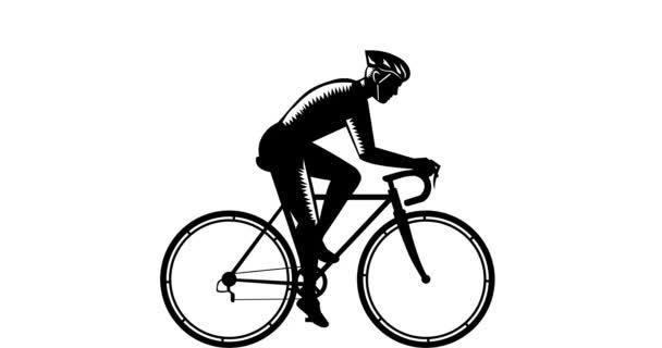 Cyklista závodní Side 2d animace