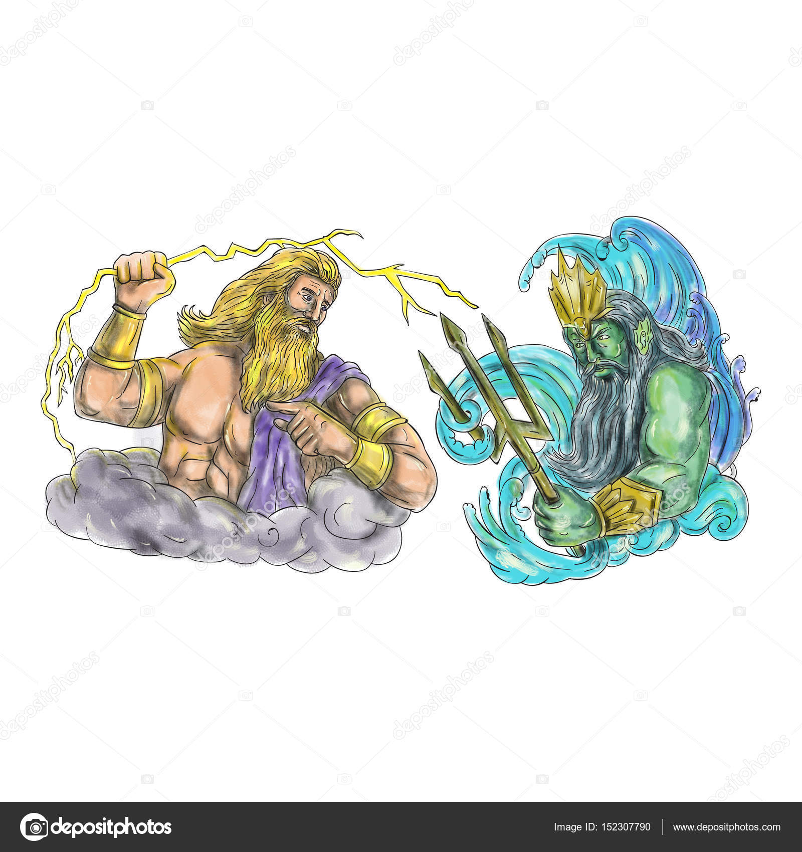 zeus vs poseidon Poseidon is part of the olympian pantheon as the god of the seas and was worshipped by the atlanteans as father neptune poseidon was the second born son of the titan deities cronus and rhea poseidon sided with his brothers zeus and hades in the war between the olympians and the titans he and.