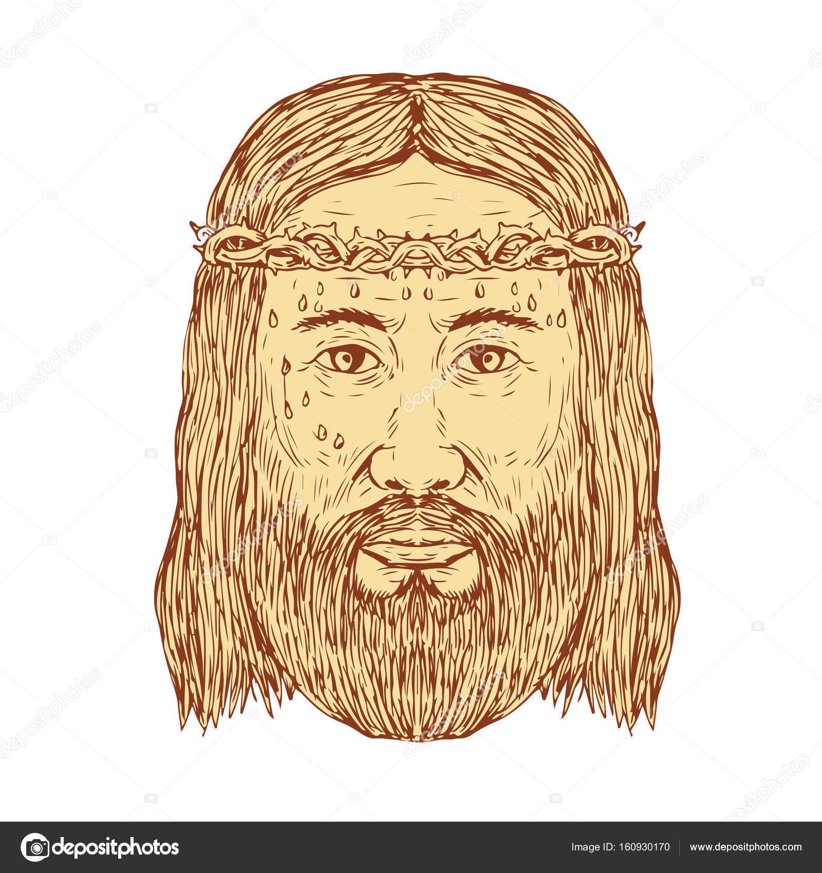 Dibujo De Corona De Espinas Para Imprimir Jesús Con La Corona De