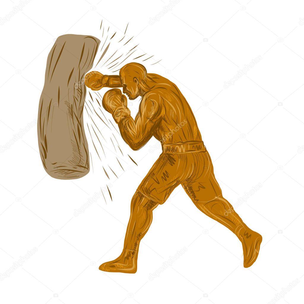 Perforación — Stock Dwg De Patrimonio183359378 © Vector Boxeador Bolsa qSGjUpLVzM