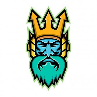 Poseidon Greek God Mascot